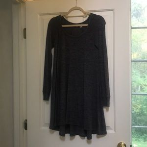 Charcoal heather grey casual dress